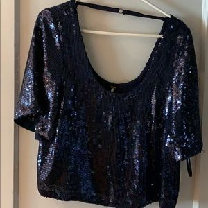 Free People, sequels Navy Blue blouse
